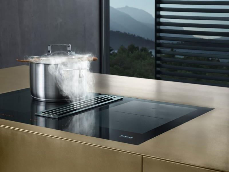miele table avec hotte integree cuisinov. Black Bedroom Furniture Sets. Home Design Ideas